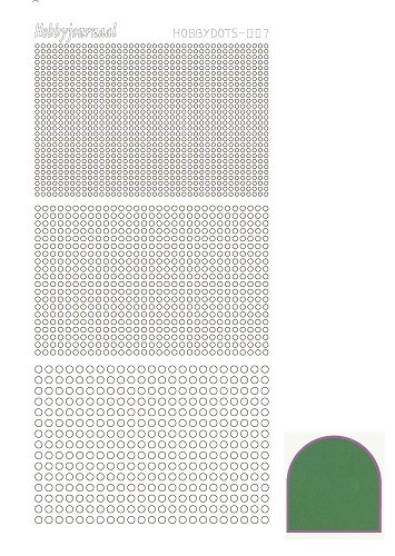 Hobby Dots - Sticker serie 007 - Mirror Groen