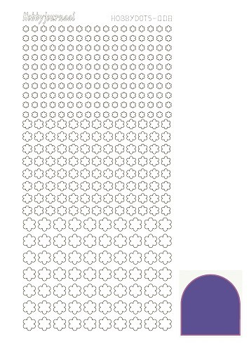 Hobby Dots - Sticker serie 008 - Mirror Purple