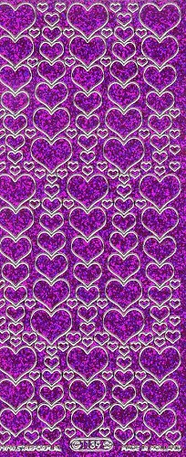 Starform 1139 Gekleurde Glitter Purple
