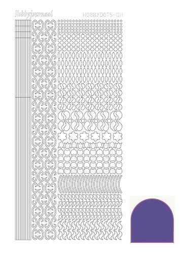 Hobby Dots - Sticker serie 011 - Mirror - Purple