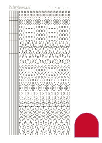 Hobby Dots - Sticker serie 015 - Adhesive - Red (Rood)
