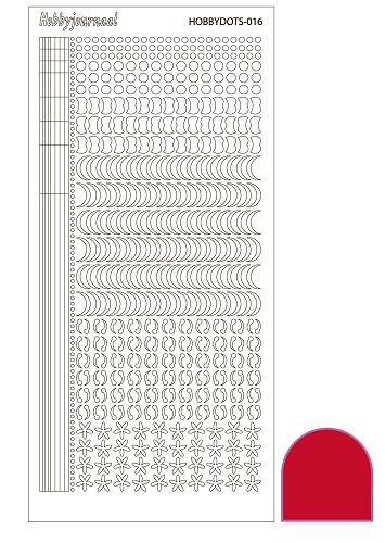Hobby Dots - Sticker serie 016 - Adhesive - Red (Rood)