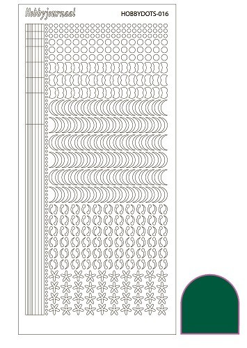 Hobby Dots - Sticker serie 016 - Adhesive - Green (Groen)
