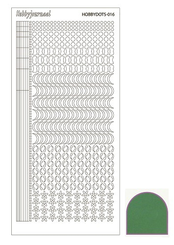 Hobby Dots - Sticker serie 016 - Mirror Green (Groen)