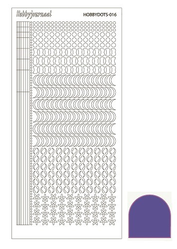 Hobby Dots - Sticker serie 016 - Mirror Purple (Paars)